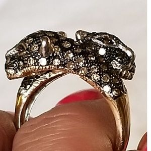 Jewelry - 10kt Gold 1ctw Chocolate Diamond Panther Ring